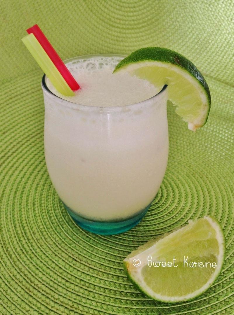 sweet kwisine, limonade, citron vert, lait concentré sucré, brésil, boisson brésilienne, green lemon, lemonade, condensed milk
