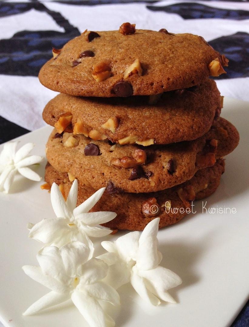Sweet Kwisine, noix, chocolat, biscuit, cookie, pâte de noix, cuisine Etats-Unis, végétarien, cuisine facile