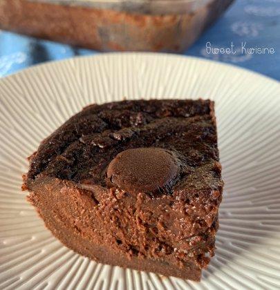 Le pudding au chocolat et au lait de coco